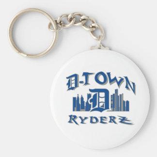 engranaje de RyderZ de la D-ciudad Llavero Redondo Tipo Pin