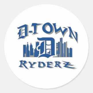 engranaje de RyderZ de la D-ciudad Pegatinas Redondas