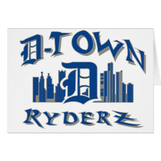 engranaje de RyderZ de la D-ciudad Tarjeta De Felicitación