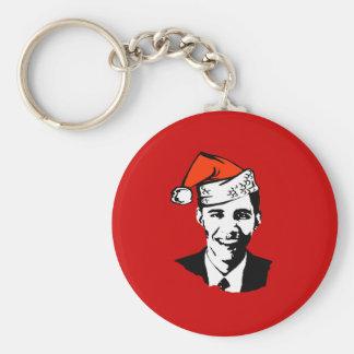 Engranaje de Santa Obama Llavero Redondo Tipo Pin
