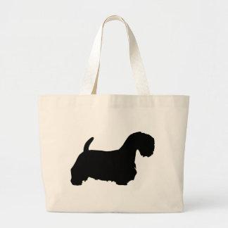 Engranaje de Sealyham Terrier Bolsa De Tela Grande