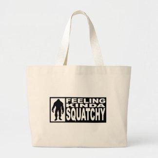 Engranaje de Squatchy de la sensación - encontrar  Bolsa Tela Grande