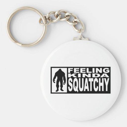 Engranaje de Squatchy de la sensación - encontrar  Llavero Redondo Tipo Pin