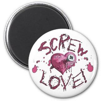 Engranaje del amor del tornillo imán redondo 5 cm