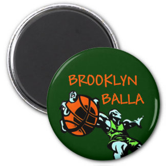 Engranaje del baloncesto de Brooklyn Balla Imán Redondo 5 Cm
