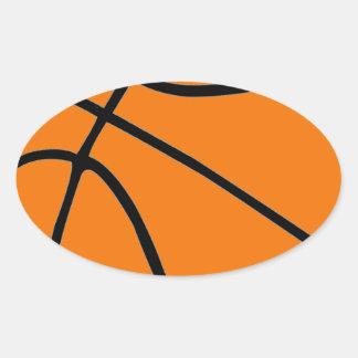 Engranaje del baloncesto calcomania óval