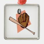 Engranaje del béisbol ornamento de navidad