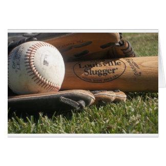 Engranaje del béisbol tarjeta de felicitación