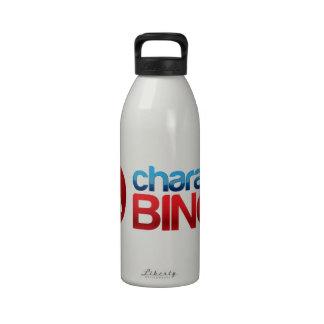 Engranaje del bingo del carácter del auge botella de agua