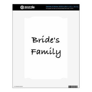 engranaje del boda de la familia de la novia calcomanía para el NOOK