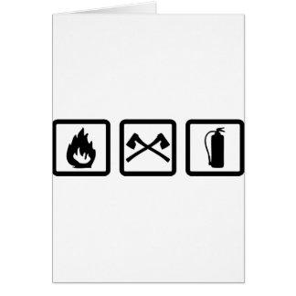 engranaje del bombero tarjeta de felicitación