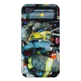 Engranaje del coche de bomberos iPhone 4 funda
