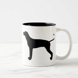 Engranaje del Coonhound de Redbone Taza De Dos Tonos