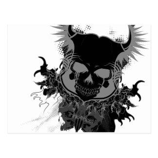 Engranaje del cráneo tarjeta postal