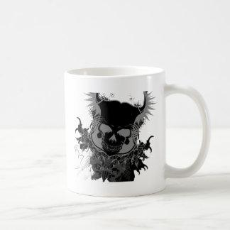 Engranaje del cráneo taza de café