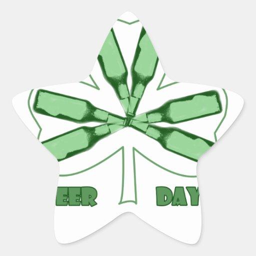 Engranaje del día de St Patrick Pegatina En Forma De Estrella