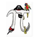 Engranaje del día del pirata pi postal