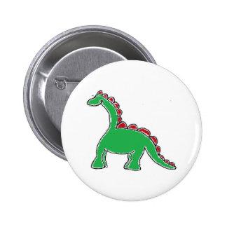 Engranaje del dinosaurio pin redondo de 2 pulgadas