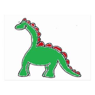 Engranaje del dinosaurio tarjeta postal