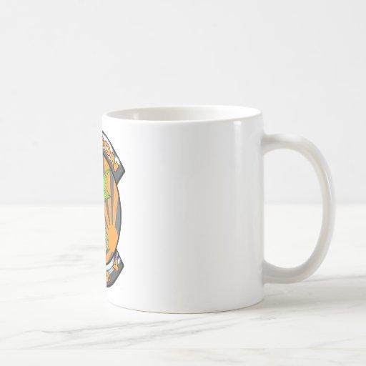 Engranaje del ejército del dragón taza de café