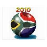 Engranaje del equipo de fútbol tarjeta postal