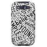Engranaje del Espíritu Santo - texto blanco del ne Samsung Galaxy S3 Carcasas