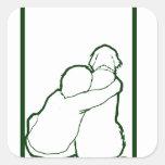 Engranaje del fondo de Aidan Calcomanía Cuadradas Personalizada