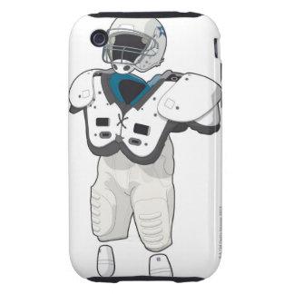 Engranaje del fútbol americano iPhone 3 tough cárcasas