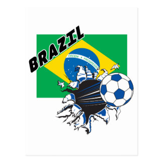 Engranaje del fútbol del Brasil Tarjeta Postal