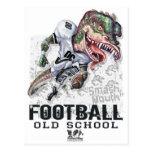 Engranaje del fútbol del dinosaurio de la boca del postales