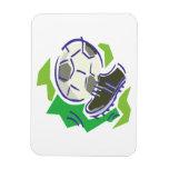 Engranaje del fútbol imanes rectangulares
