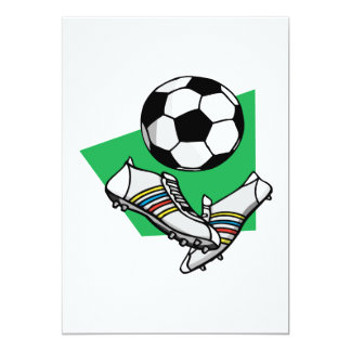 """Engranaje del fútbol invitación 5"""" x 7"""""""