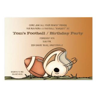 Engranaje del fútbol - invitación del fiesta