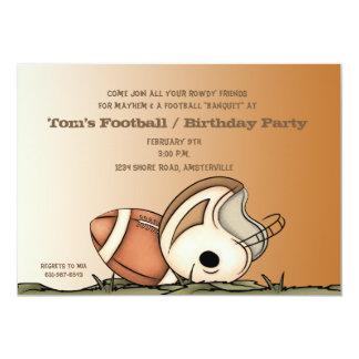 Engranaje del fútbol - invitación del fiesta invitación 12,7 x 17,8 cm
