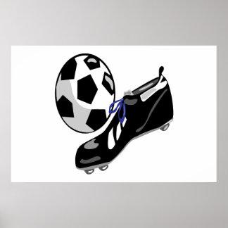 Engranaje del fútbol poster
