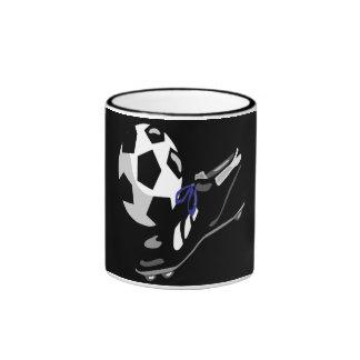 Engranaje del fútbol taza de dos colores