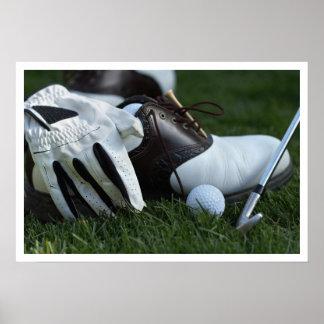 engranaje del golf póster