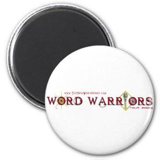 Engranaje del guerrero de la palabra iman de nevera
