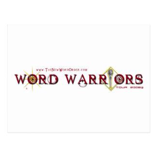 Engranaje del guerrero de la palabra tarjetas postales