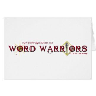 Engranaje del guerrero de la palabra tarjetón