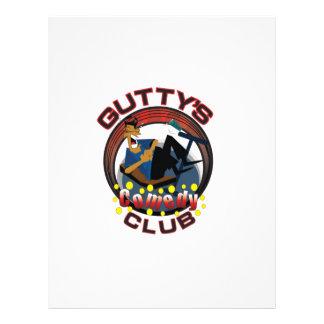 Engranaje del Gutty Plantilla De Membrete