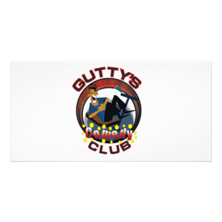 Engranaje del Gutty Tarjeta Fotografica Personalizada