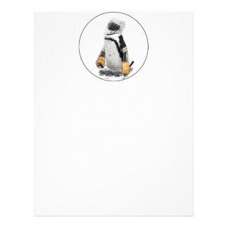 Engranaje del hockey del pequeño pingüino que tarjetones