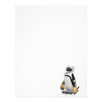 Engranaje del hockey del pequeño pingüino que flyer personalizado