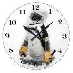 Engranaje del hockey del pequeño pingüino que reloj