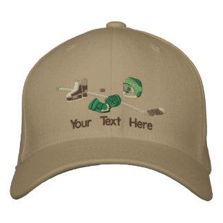 Engranaje del hockey - personalizar gorras bordadas