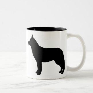 Engranaje del husky siberiano taza