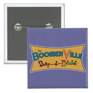 Engranaje del logotipo de la Tienda-uno-Rama de Bo Pin Cuadrada 5 Cm