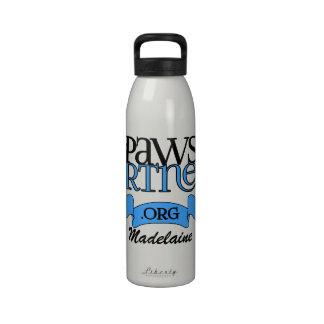 engranaje del logotipo de PawsPartners org Allianc Botella De Beber