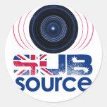 Engranaje del logotipo de SubSource Etiquetas Redondas